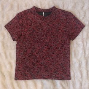 Free People Textured T-Shirt